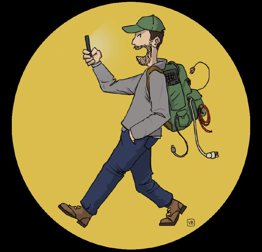Logo du randonneur